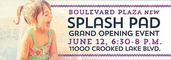 Splash Pad Grand Opening
