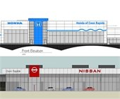 New car dealerships Honda and Nissan