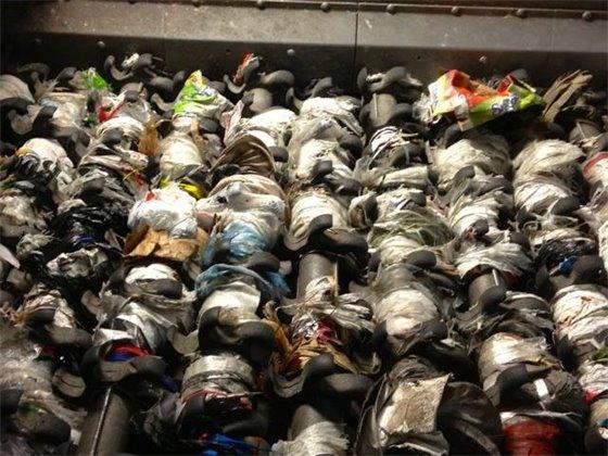 Plastic Bags Tangled in Sorting Machine