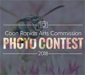 Coon Rapids Arts Commission Photo Contest 2019 logo with icon of camera