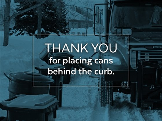 Place Cans Behind the Curb
