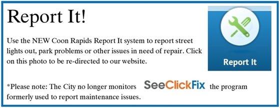 Coon Rapids Report It