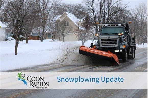 Coon Rapids Snowplow Update