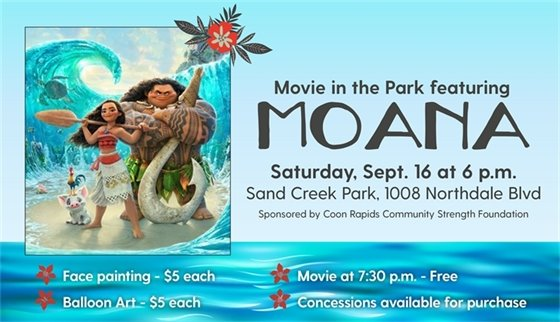 Movie in the Park featuring Moana