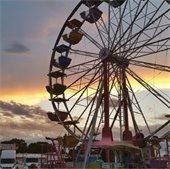 Ferris wheel at 4th of July Carnival at sunset