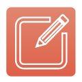 pencil and box icon