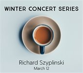 Winter Concert Series title with coffee cup and saucer