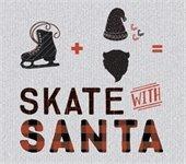Ice skate plus santa beard equals Skate with Santa