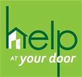 Help at your door with house icon