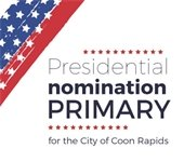 Presidential Nomination Primary title with stars and strips