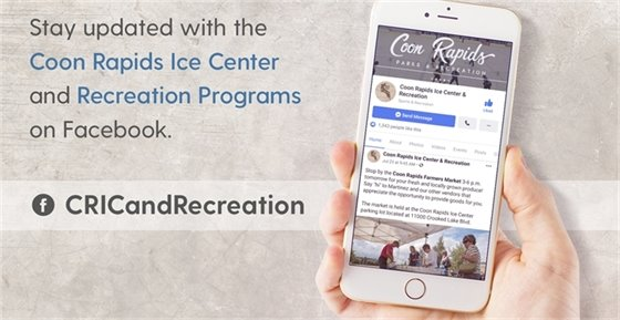 Stay updated with CRIC and Recreation Programs on Facebook