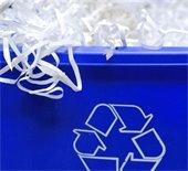 Bin of shredded paper