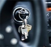 Keys in a car ignition