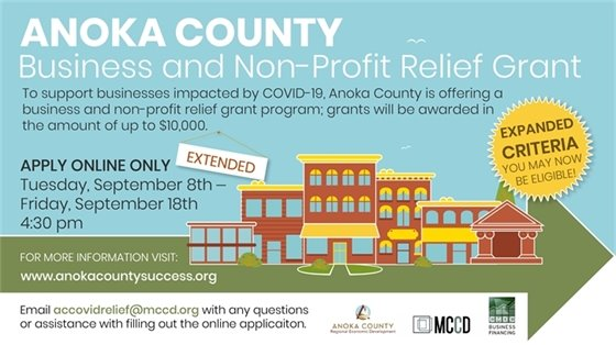 Anoka County Business and Non-profit Relief Grant