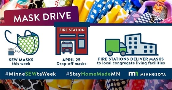 Sew masks this week, drop-off masks April 25, fire stations deliver masks to local facilties