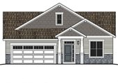 Artist rendering of two story home
