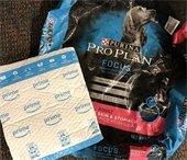 Pet food bag & padded Amazon shipping envelope