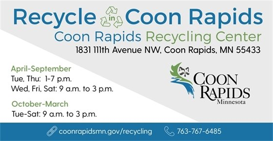 Recycle in Coon Rapids at the Recycling Center