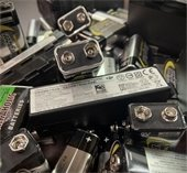 Pile of assorted batteries