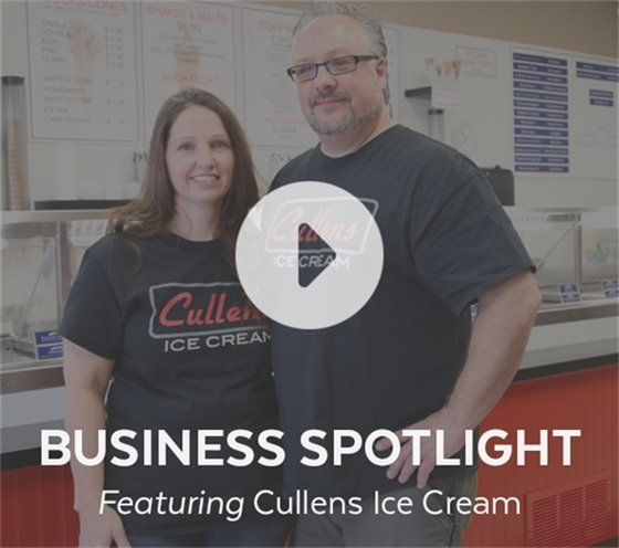 Business Spotlight featuring Cullens Ice Cream