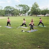Yoga class at Crooked Lake Park